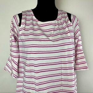 Tyler boe Striped Cold Shoulder Dress